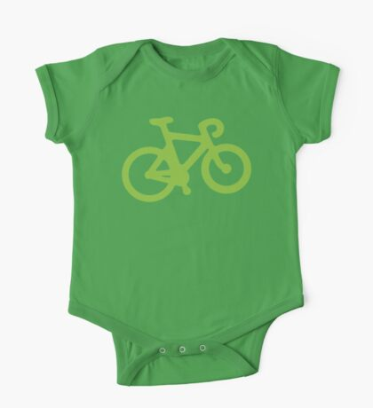 Green Bike One Piece - Short Sleeve