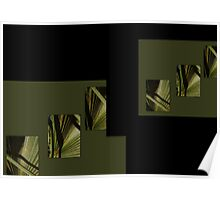 the beauty of natural green and my love of palm fronds  Poster