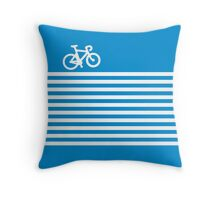 Blue Simple Bike Throw Pillow