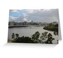 Brisbane River looking south from Kangaroo Point Greeting Card