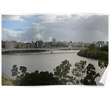 Brisbane River looking south from Kangaroo Point Poster