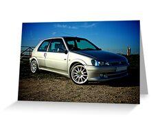 Peugeot 106 GTi Greeting Card