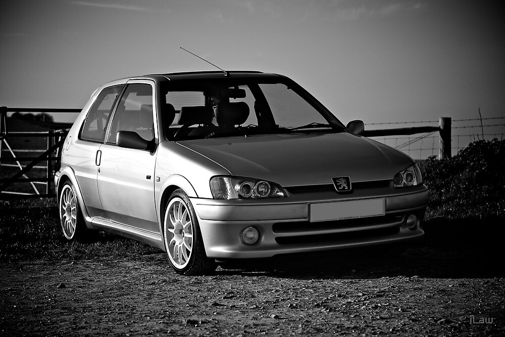 peugeot 106 gti by ilaw redbubble. Black Bedroom Furniture Sets. Home Design Ideas
