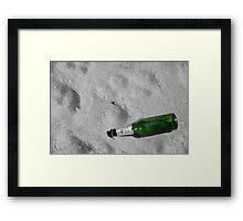 Bottle Beach Framed Print