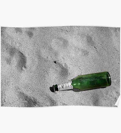 Bottle Beach Poster