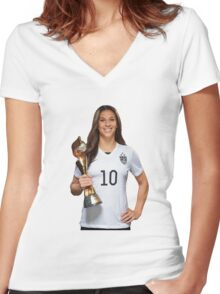 Carli Lloyd - World Cup Women's Fitted V-Neck T-Shirt