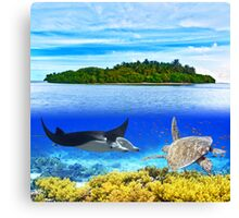 Maldives atoll Canvas Print