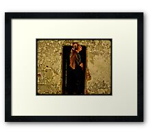 They Call Me Trouble Framed Print