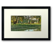 Tranquility - Hume, ACT, Australia. Framed Print