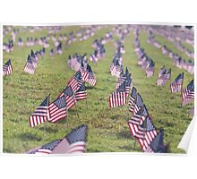 American Flag Array Poster