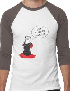 Just a flesh wound  Men's Baseball ¾ T-Shirt