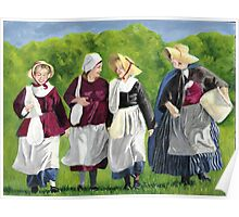 Colonial Women Poster