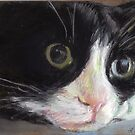 Nutter Butter Tuxedo Cat by Linda Bryant