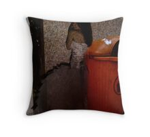 portrait of woman 3/ projection Throw Pillow