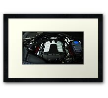 Audi A6 3.0 V6 TFSI Engine Framed Print