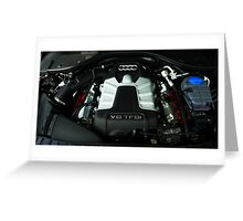 Audi A6 3.0 V6 TFSI Engine Greeting Card