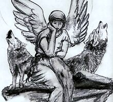 The Angel and the Wolves by robertemerald