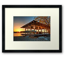 Lake Gazebo Framed Print