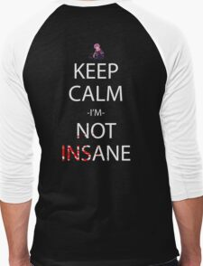 future diary mirai nikki yuno gasai keep calm i'm not insane anime manga shirt Men's Baseball ¾ T-Shirt