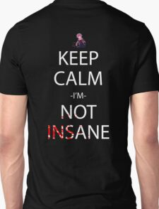 future diary mirai nikki yuno gasai keep calm i'm not insane anime manga shirt T-Shirt