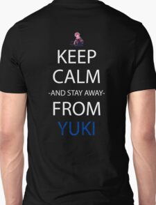 future diary mirai nikki yuno gasai keep calm and stay away from yuki anime manga shirt T-Shirt