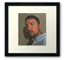 Self Portrait 2011 (a digital painting) Framed Print