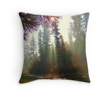 Morning Mist on the North Fork Throw Pillow