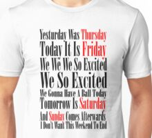 Rebecca Black Friday Unisex T-Shirt