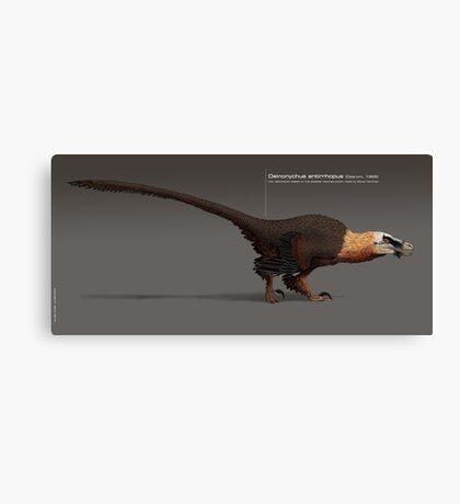 Deinonychus paleoart Canvas Print