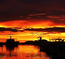Amazing Sunset at the Harbor  by SCDigitalPhoto