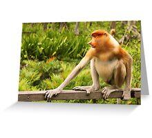 The Endangered Species - Proboscis Monkey Greeting Card