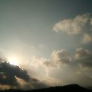 Sun Coming Through The Clouds by Misty Lackey