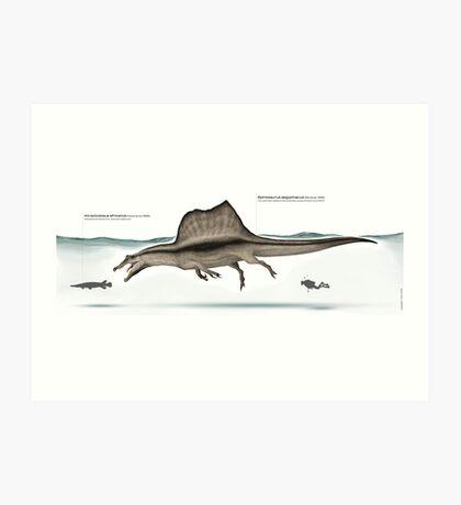 Spinosaurus paleoart Art Print