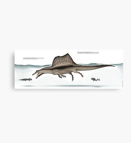 Spinosaurus paleoart Canvas Print