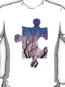 Puzzle Pink Tree T-Shirt