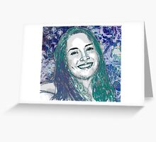 Thanee's acqua portrait Greeting Card