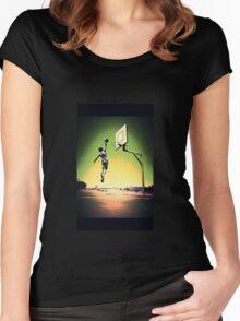 DUNKART SUNSET Women's Fitted Scoop T-Shirt