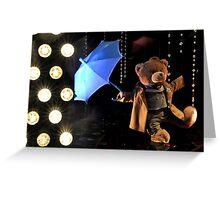 Singing and dancing in the Rain Greeting Card