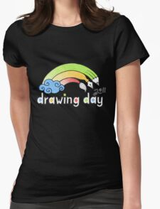 Drawing Day ~ Logo Womens Fitted T-Shirt