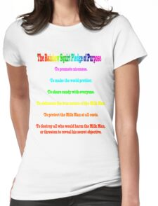 The Rainbow Squirt Pledge Of Purpose Womens Fitted T-Shirt