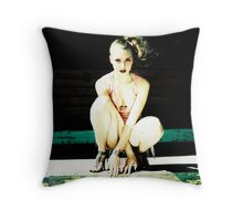 Urban decay fashion - On the loading dock Throw Pillow