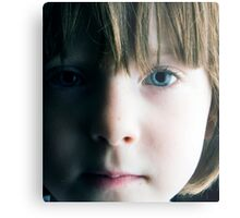 Low Key Childs Portrait Metal Print