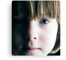 Low Key Childs Portrait Canvas Print