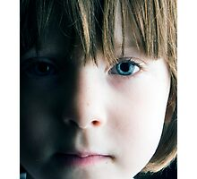 Low Key Childs Portrait Photographic Print