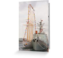 Portuguese Navy ships Greeting Card
