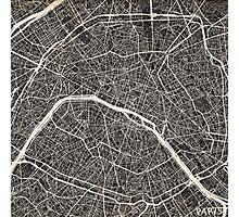 Paris map Photographic Print