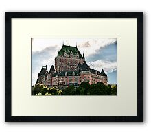 Chateau de Frontenac in Quebec City, Canada Framed Print