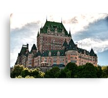 Chateau de Frontenac in Quebec City, Canada Canvas Print