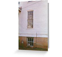 Haunted Ghost Window Greeting Card