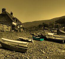 Boats at Porlock Weir by Rob Hawkins